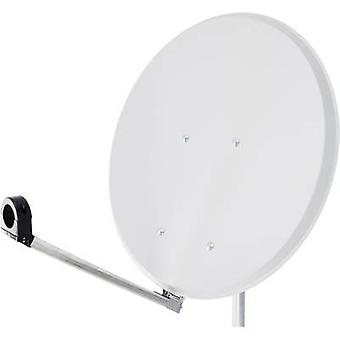 Slimme Click-Clack SAT antenne 65 cm reflecterend materiaal: staal wit