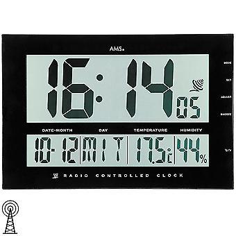 Radio controlled wall clock table clock digital clock wall desk modern clock