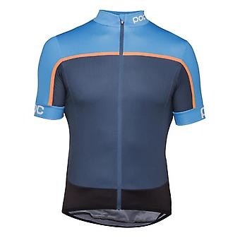 POC Furfural Multi Blue 2018 Essential Road Block Short Sleeved Cycling Jersey