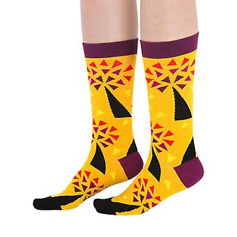 Seed luxury combed cotton designer crew socks in yellow | By Ballonet
