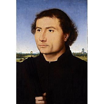 Portrait of a man,Hans Memling,60x40cm