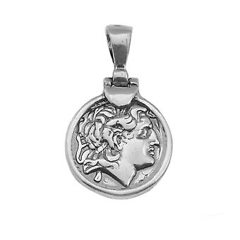 Sterling Silver Alexander The Great Pendant