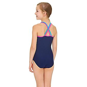 Zoggs Native Spirit Double Crossback Swimsuit Multi/Navy