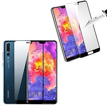 Para Huawei Mate 20 2 x 3D premium 0,3 mm H9 duro cristal diapositiva negro protector cubierta nuevo