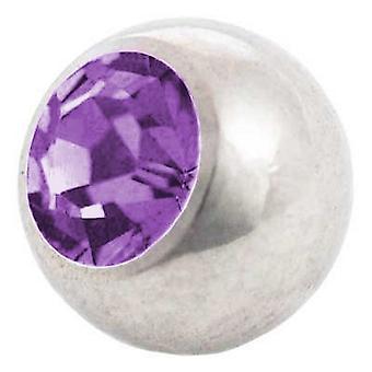 Piercing wymiana piłki, kamień Tanzanite   1,2 x 3 i 4 mm, ciało Biżuteria