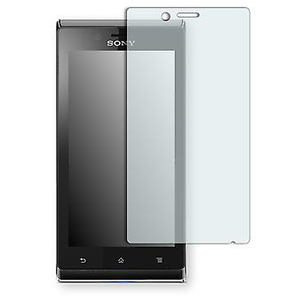 Sony Xperia ST26i screen protector - Golebo crystal clear protection film