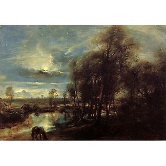 Sunset Landscape with a Sbepberd,Peter Paul Rubens