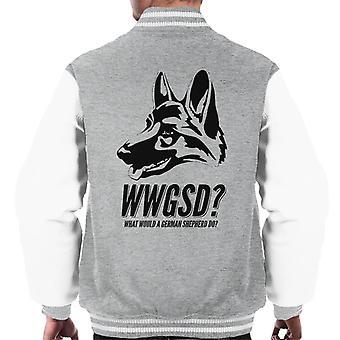 What Would A German Shepherd Do Men's Varsity Jacket
