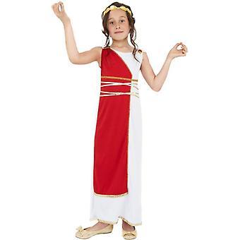زي فتاة إغريقي، ومتوسط عمر 7-9