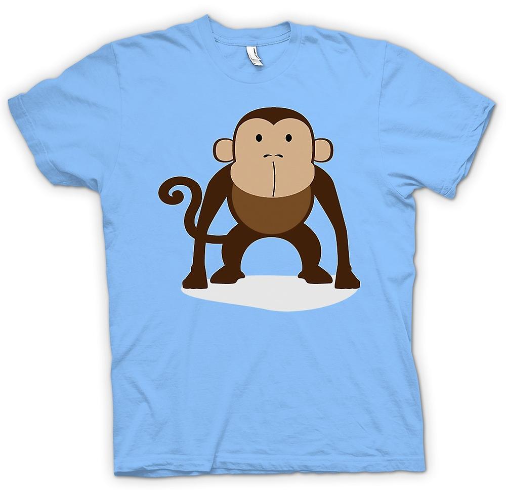 Mens-T-shirt - ich liebe Affen - niedliche Tier