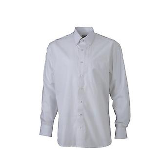 James and Nicholson Mens Long Sleeve Button Down Shirt