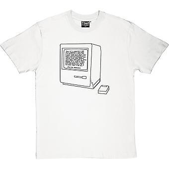 Charles Bukowski Computers Quote Men's T-Shirt