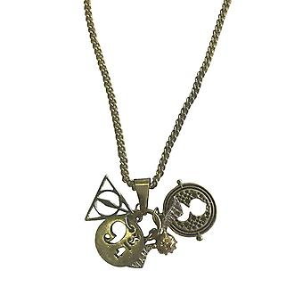 Harry Potter Necklace Pendant Deathly Hollows Time Turner Charms Official Chain