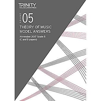 Trinity College London: Theory Model Answers (Nov 2017) Grade 5