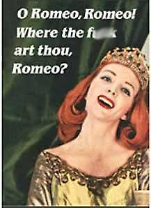 O Romeo, O Romeo, where... funny fridge magnet