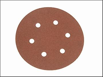 Faithfull Hook & Loop Sanding Disc DID2 Holed 150mm x 80g (Pack of 25)