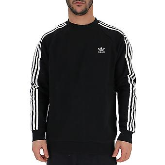 Adidas White/black Cotton Sweater