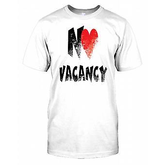 No (Heart) Vacancy - Funny Kids T Shirt