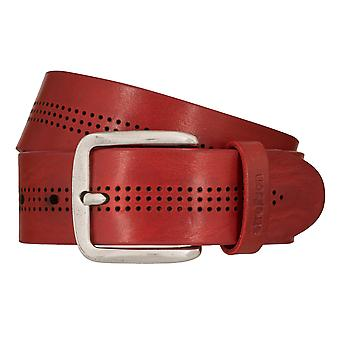 Strellson jeans belt men belt cowhide leather belt red 7916
