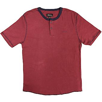 Brixton Ltd, Lewis Henley Style Top, Red/Navy