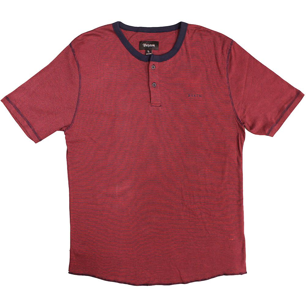 Brixton Lewis Henley Red Navy
