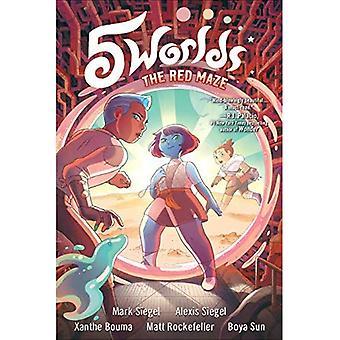 5 Worlds Book 3: The Red Maze (5 Worlds)