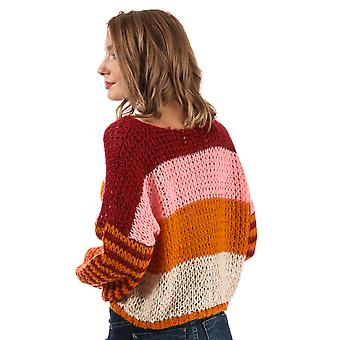 Womens Only Carle Striped Jumper In Sun Dried Tomato