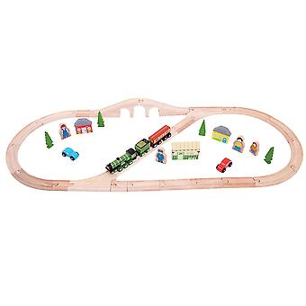 Bigjigs Rail Wooden Heritage Collection Flying Scotsman Train Set Railway