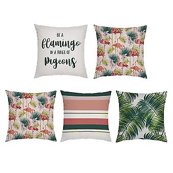 Gardenista® ' Flamingo Collection ' 5pc Cushion Cover Set