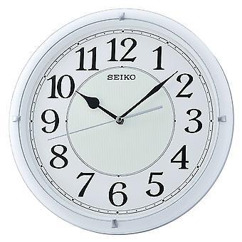 Seiko lysande Dial vägg klocka med arabiska siffror-Matt vit (QXA734W)