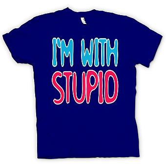 Kids T-shirt - Im With Stupid - Quote