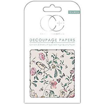 Craft Consortium English Garden Decoupage Papers (CCDECP264)