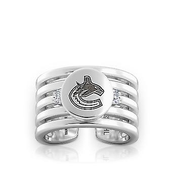 Vancouver Canucks - Canucks Logo Engraved Multiband Cuff Ring