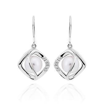Orphelia 925 Boucles d'oreilles argentées Diamant en forme de perle et de zirconium