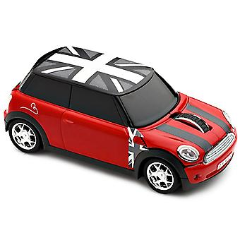 Official BMW Mini Cooper S Car Wireless Computer Mouse - Red with Union Jack