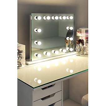 Diamond X Table Top Hollywood Makeup Mirror with Dimmable LED k518sCW