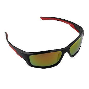 Sonnenbrille UV 400 Sport Rechteck PolarisierenGlas rot gelb S368_3 FREE BrillenkokerS368_3