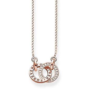 Thomas Sabo Silver Silver Pendant Necklace Sterling 925 KE1488-416-40-L45v