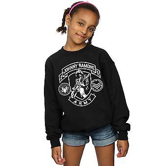 Johnny Ramone Girls Army Badges Sweatshirt