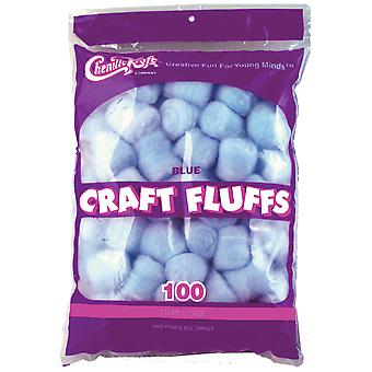 Craft Fluffs 4Oz Bag 100 Pkg Blue Fluff4oz 6401