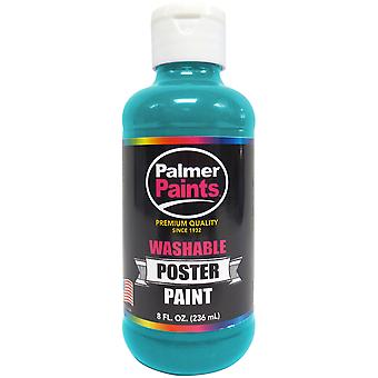 Washable Poster Paint 8oz-Turquoise WP8OZ-636