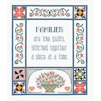 Families Are Like Quilts Counted Cross Stitch Kit 13
