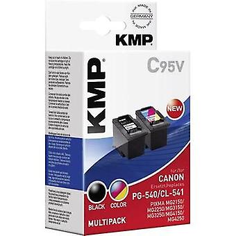KMP Ink replaced Canon PG-540, CL-541 Compatible Set Black, Cyan, Magenta, Yellow C95V 1516,4850