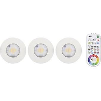 LED flush mount light 3-piece set 18 W RGB JEDI Lighting Performa JE1295870 White