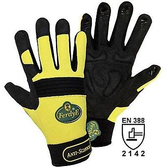FerdyF. 1970 Yellow Clarino® Synthetic-Leather Anti-Schock Mechanics Gloves L EN 388