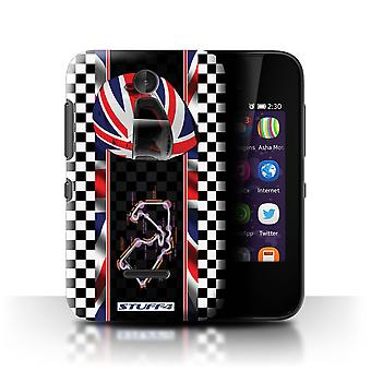 STUFF4 Case/Cover for Nokia Asha 230/Britain/Silverstone/F1 Track Flag