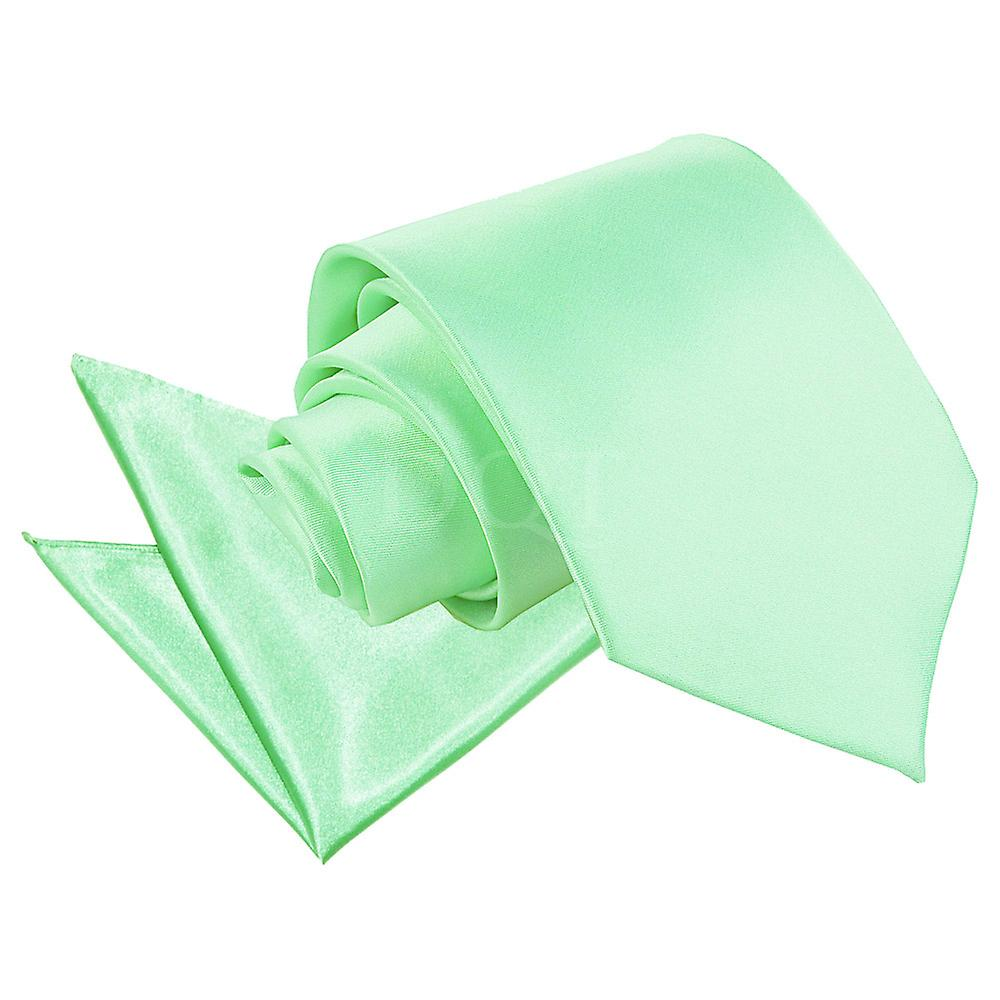 Mint Green Plain Satin Tie 2 pc. Set