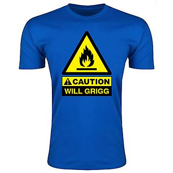 Caution Will Griggs On Fire T-Shirt (Royal Blue)