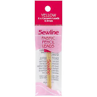 Sewline Mechanical Fabric Pencil Lead Refill 6/Pkg-Yellow 70089