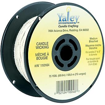 Candle Wicking Spool 75yd-Medium Bleached 110164